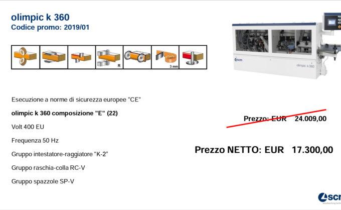 PROMO K360 T-E (22) FINO AL 31/12/19