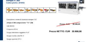 PROMO K360 T-E (28) FINO AL 31/12/19