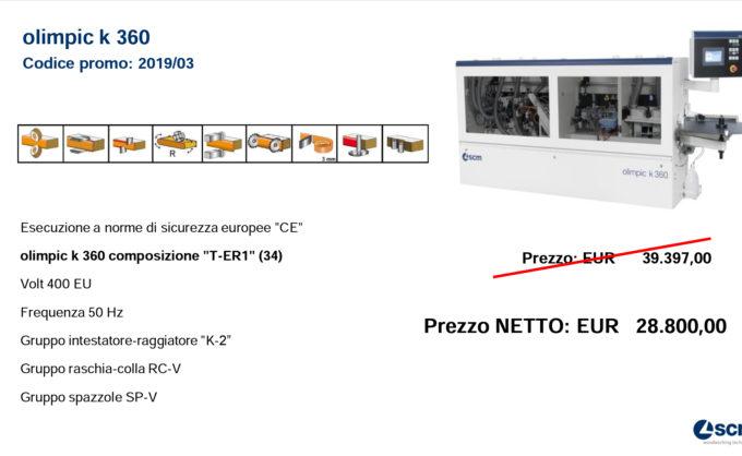 PROMO K360 T-ER1 (34) FINO AL 31/12/19