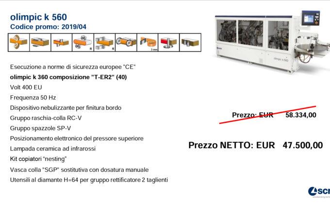 PROMO K560 T-ER2 FINO AL 31/12/19